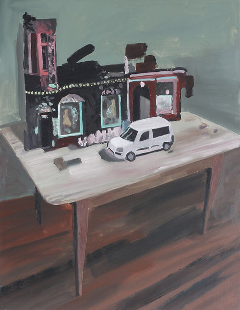 Markus boesch - The table when I'm not in office - 65 cm x 50 cm Oil on Canvas
