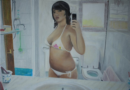 Markus Boesch - Self portrait of someone else 55 cm x 80 cm Oil on Canvas