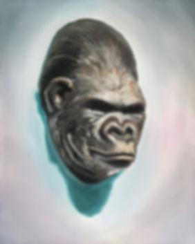 Markus Boesch - Death Mask 40 cm x 50 cm Oil on Canvas
