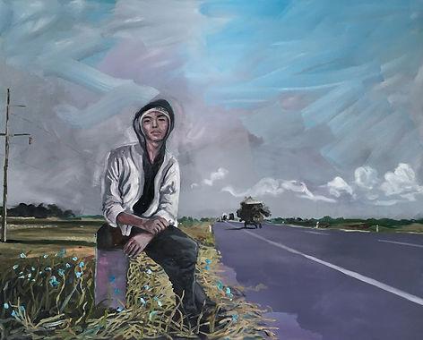 Markus Boesch / Dark Was the Night, Cold Was the Ground - 130 cm x 160 cm Oil on Canvas