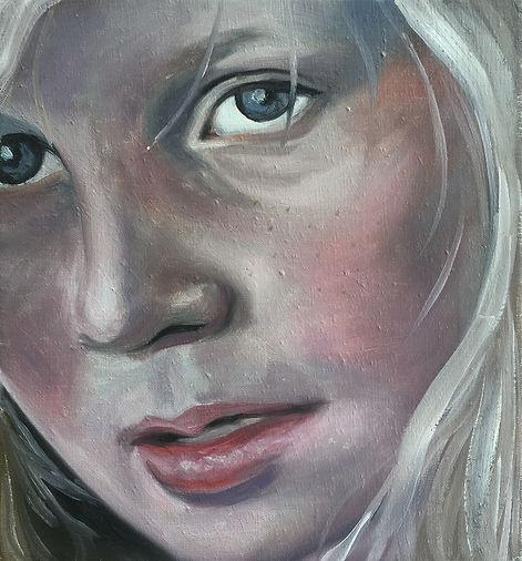Markus Boesch / Looking through a square - 33 cm x 36 cm Oil on Canvas