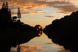 amanhecer no sul da ilha