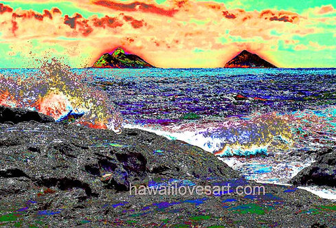 hawaii digital design and hawaii surf art Wild Mokes