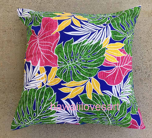 Red Anthurium pillow cover,  Hawaiian pillow 18x18