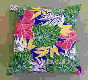 red anthurium pillow covers