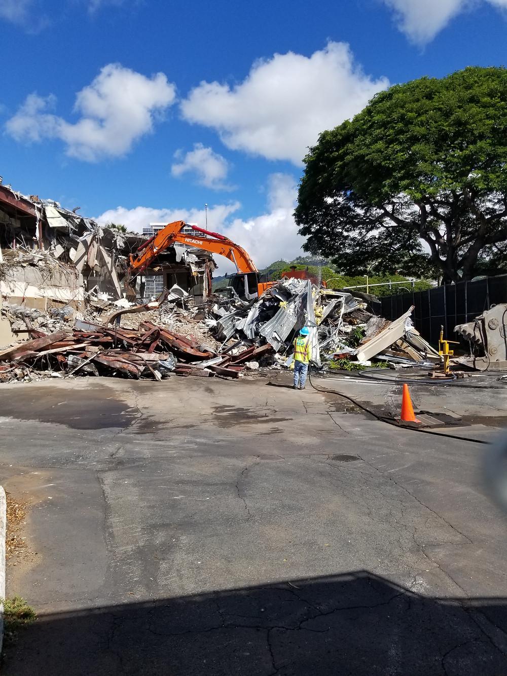 HawaiiLoves Art Bank of Hawaii Kahala being demolished
