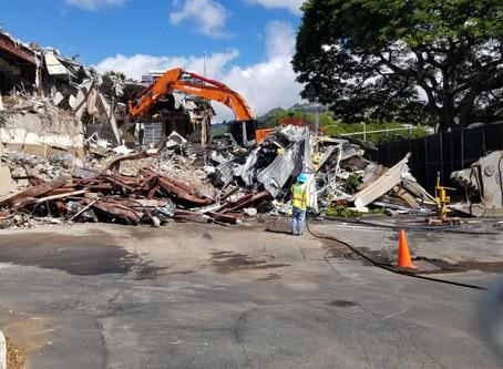 Bank of Hawaii Kahala being demolished!