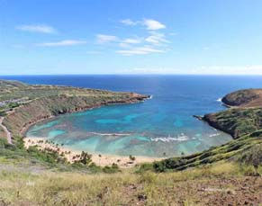 Hawaii metal prints Hanauma Bay beach picture