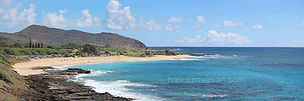 hawaii panoramas 12x36 sandy beach
