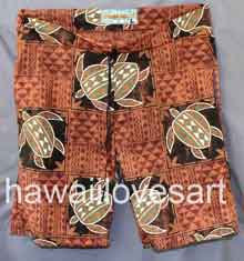 Polynesian brown turtles honu Board Shorts from Hawaii