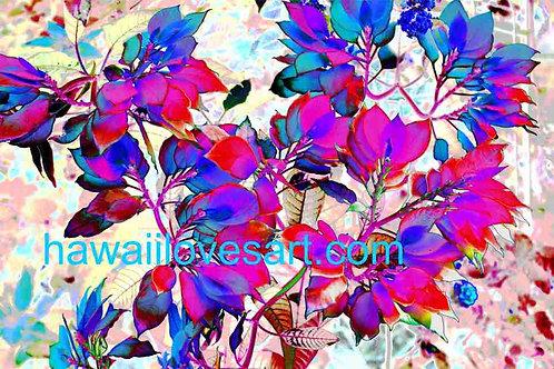 digital design wild bougainvilla 14x21
