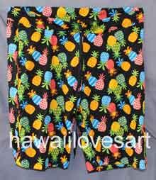 shorts-wix-cartoon-pineapple-black