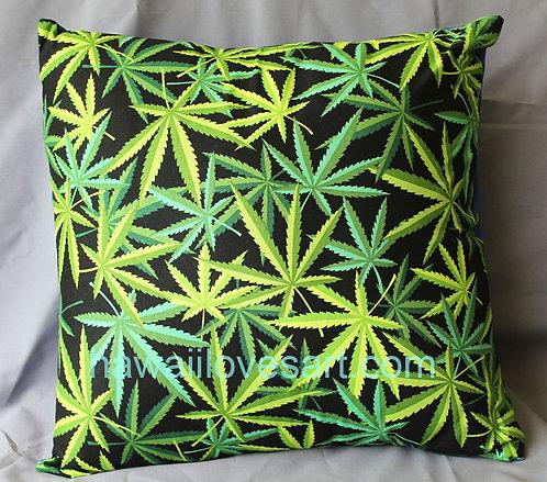 Marijuana leaf Pillow cover 18x18 Hemp/Marijuana/Pakalolo