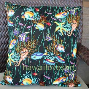 Tropical fish pillow cover 18x18