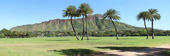 Hawaii loves art footer pic Diamond Head