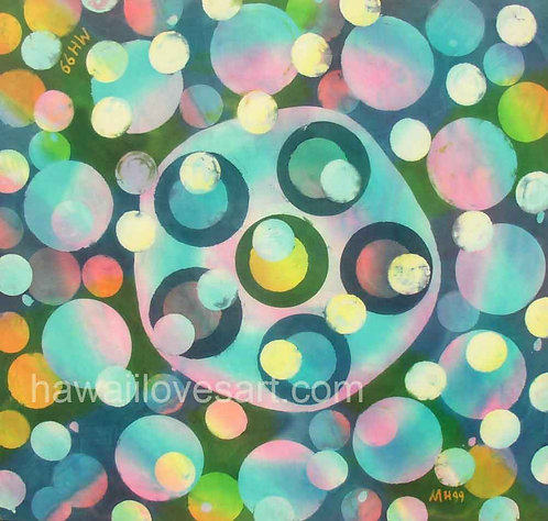 Batik painting - Bubbles