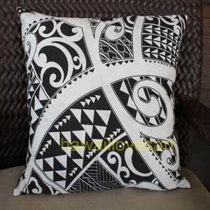Polynesian tatoo style Pillow cover Black Tatoo 18x18