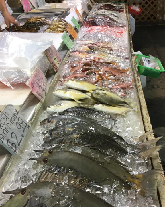 iced fish in Honolulu's Chinatown