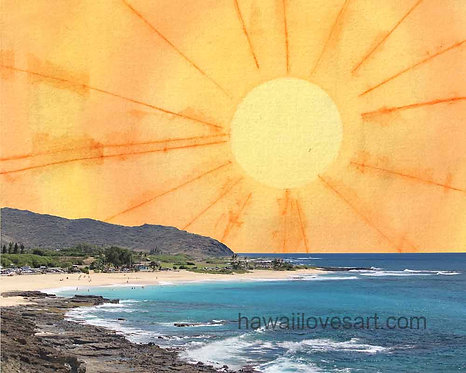 Sandy Beach Sunrise digital design