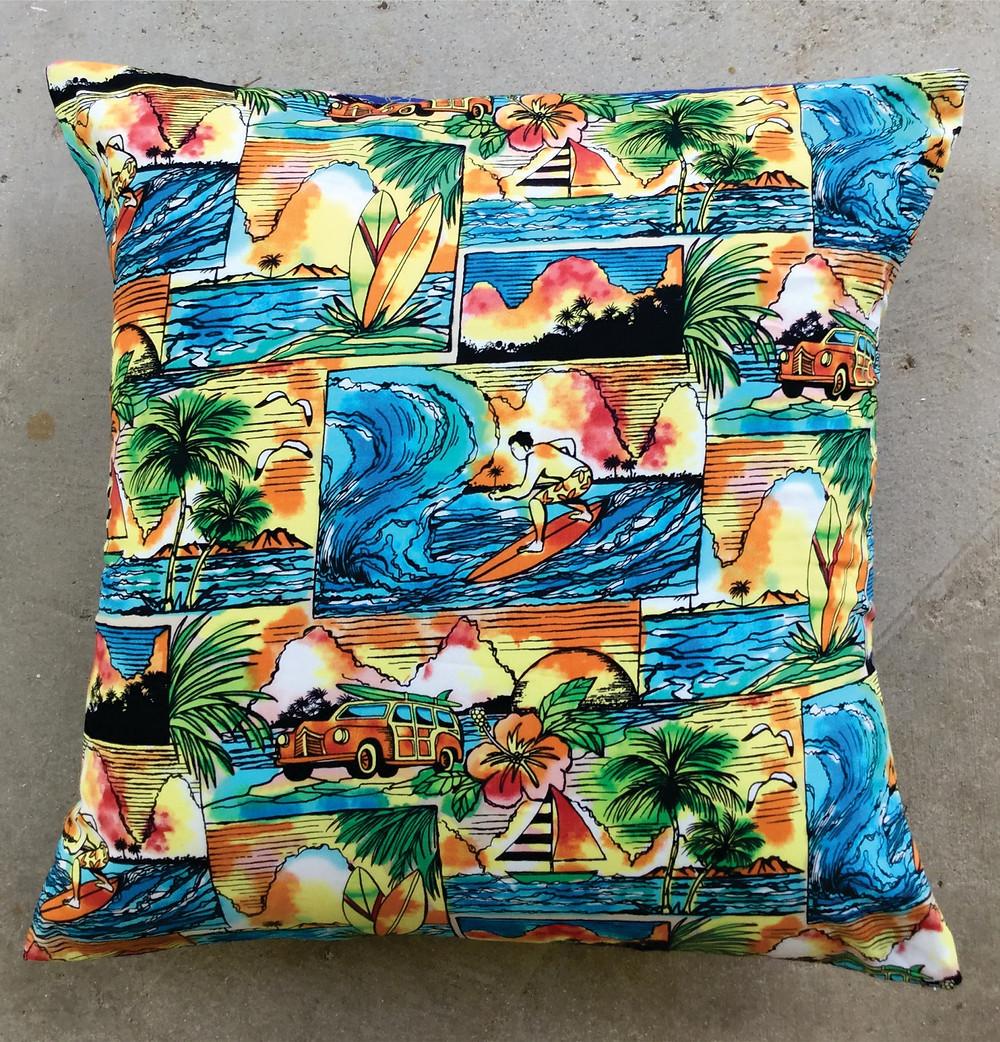 HawaiiLoves Art pillow covers surfers