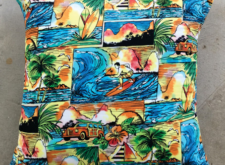 Lovely new fabric design for pillow covers at HawaiiLovesArt