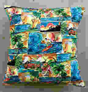 HawaiiLoves Art pillow covers surfers