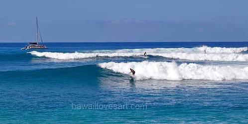 hawaii surf art hawaii panoramas Makaha Paddleboards photo