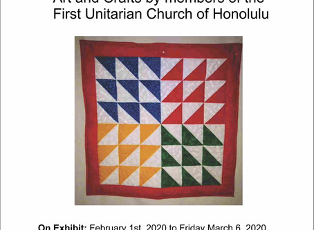 New show at Gallery on the Pali, art by members of the First Unitarian Church of Honolulu.