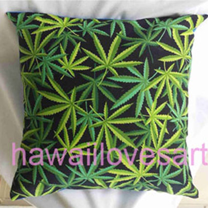 Marijuana Cannabis design pillow cover 18x18