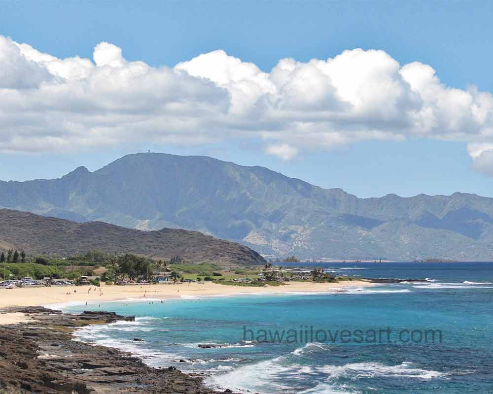 Sandy Beach at the North Shore, Oahu, Hawaii