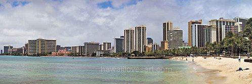 12x36 Panorama Waikiki