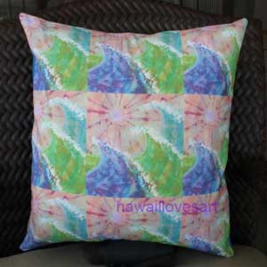 Pillow cover Pink Sun Waves 16x16
