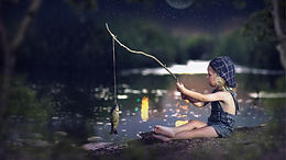 Fishing in the moonlight...