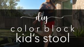 DIY Color Block Kid's Stool