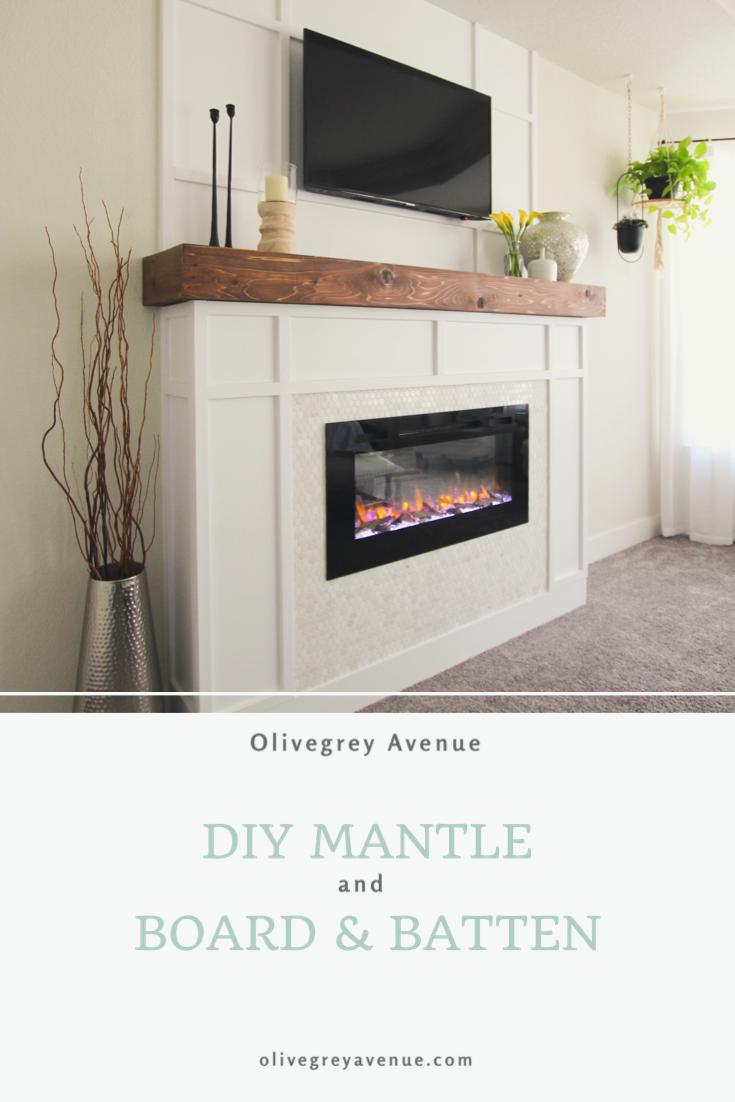 Diy Fireplace Mantle Board And Batten