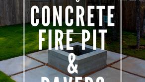 DIY Concrete Fire Pit and Pavers