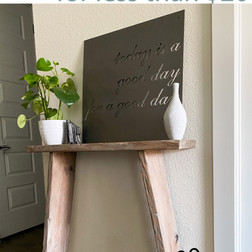 DIY Dupe Console Table for LESS than $20!
