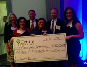 "ClearWater awarded $100,000 ""Centre Inspires"" Grant by Centre Foundation"
