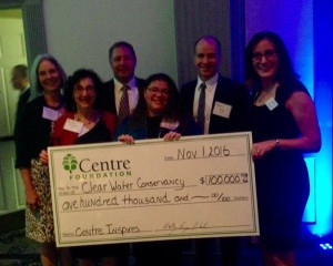 """ClearWater awarded $100,000 """"Centre Inspires"""" Grant by Centre Foundation"""