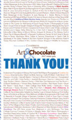 Thank You Art & Chocolate Artists, Sponsors, and Guests