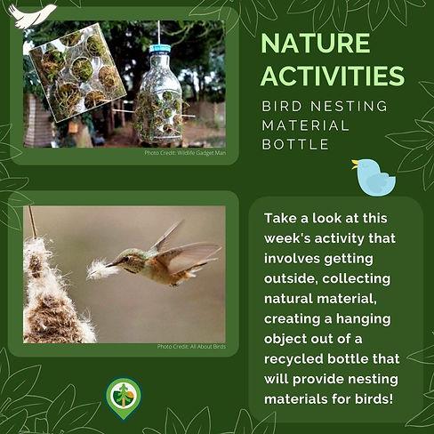 Bird Nesting Material Bottle