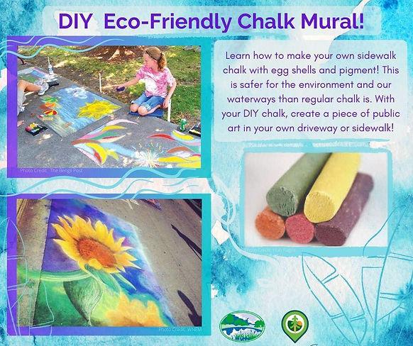 Eco-Friendly Chalk Mural