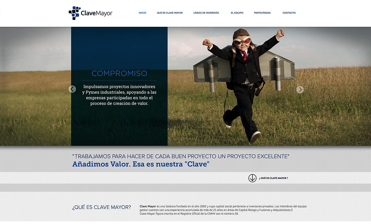 diseño web: Clave Mayor
