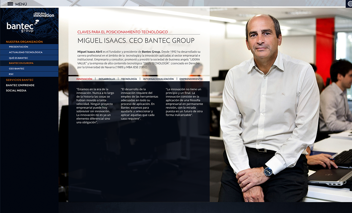diseño web: Bantec Group