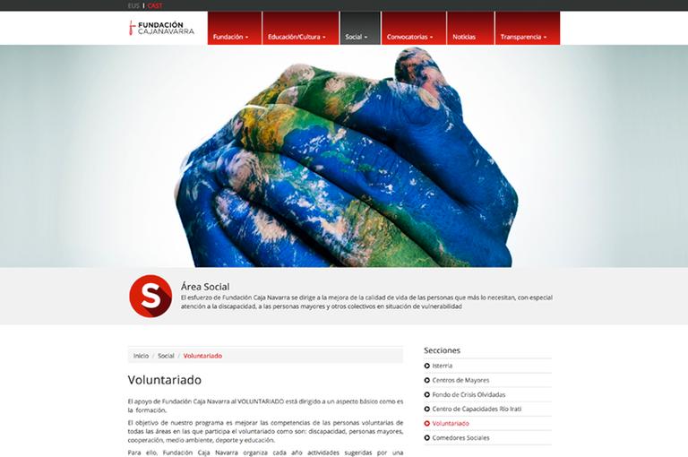 Fundación Caja Navarra estrena su web, diseñada por AZN Comunicación