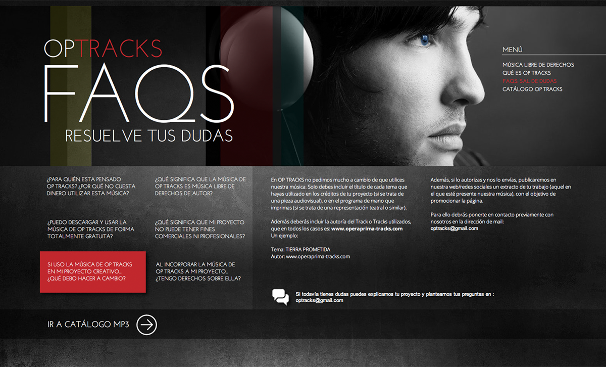 diseño web: optracks