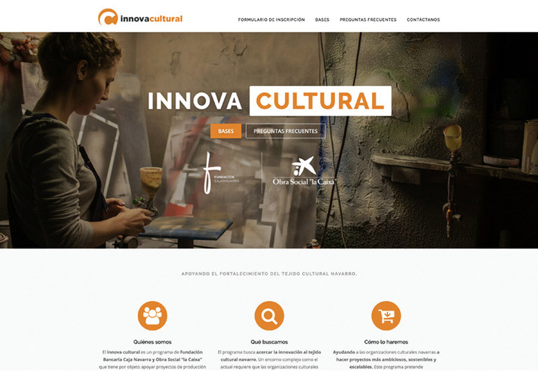Creamos la imagen de Innova Social e Innova cultural para Fundación Caja Navarra