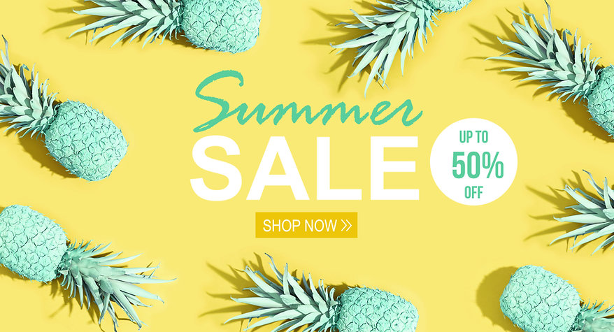 Summer sale with painted pineapples on a yellow background.jpg