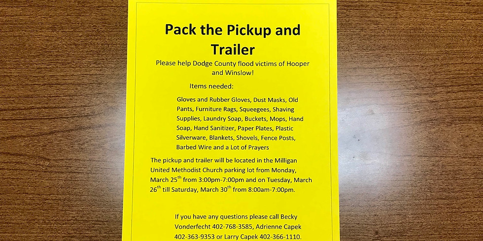 Pack the Pickup and Trailer