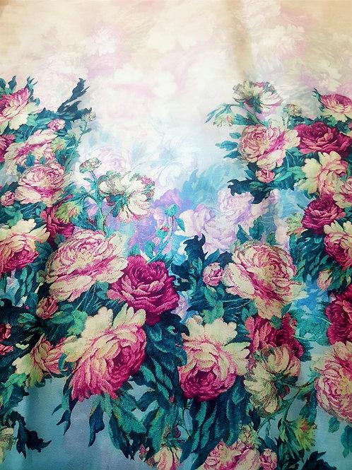 Органза електрик бордюр цветя Dolce&Gabbana